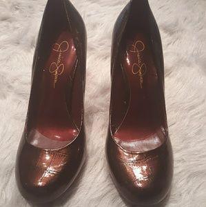 Jessica Simpson Heels 8.5 Bronze